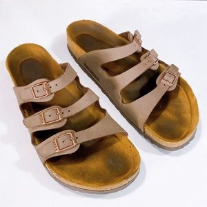 Birkenstock Florida Soft Slide Brown Sandals 40